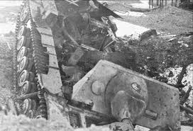 Battle of the Bulge - Bombed out Panzer (German Tank)