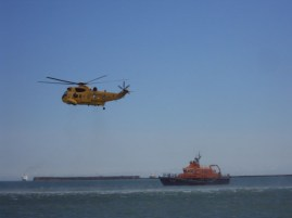 Source: Sea King Rescue Helicopter and Lifeboat at a Coastal Display in July 2011