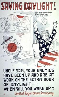 Saving daylight during the World War II years. Credit: Wikipedia